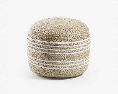 grand pouf en fibre naturelle