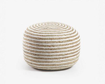 bouffée de fibres naturelles blanches