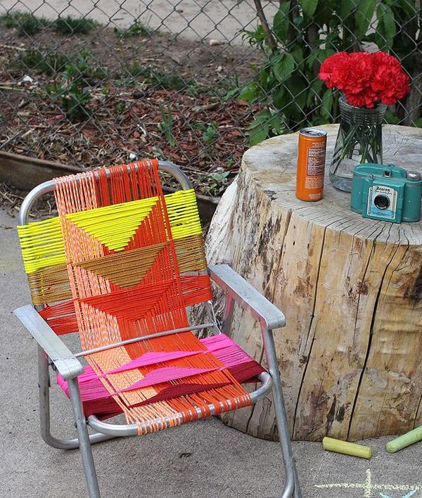 chaise en aluminium bricolage