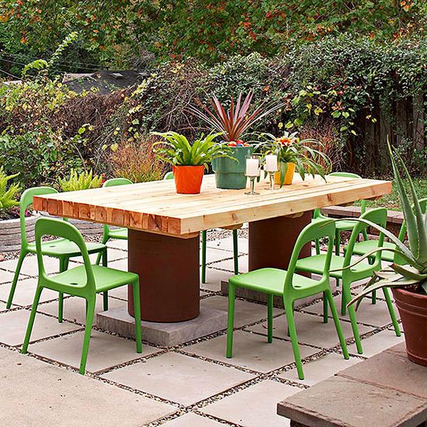 table en bois de récupération