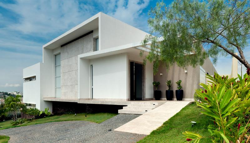 Brésil Hillside Home blanc