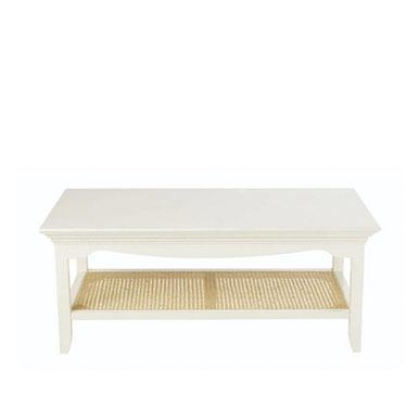 table basse rustique en bois blanc