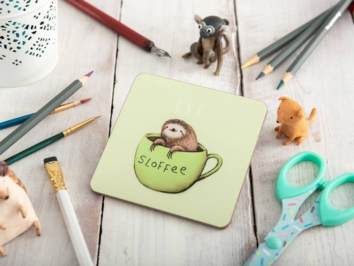 My Little Sloth Sloves Coaster Assis