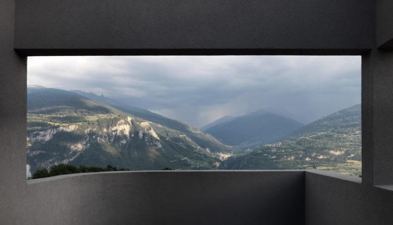 Une vue imprenable sur la montagne est l'une des caractéristiques de cette maison