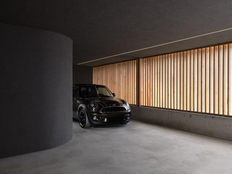 un garage intégré
