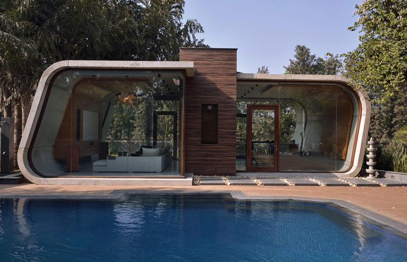 pool house contemporain