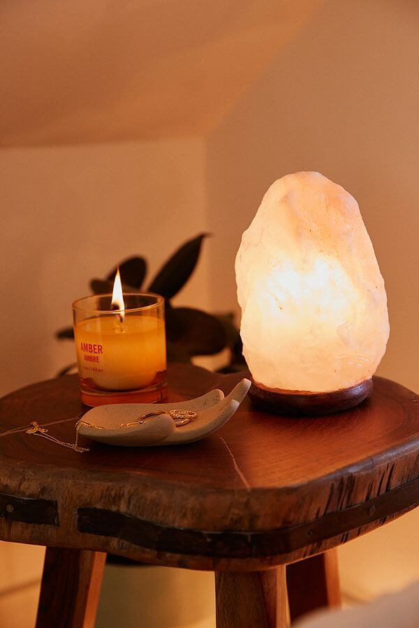 Lampe de lampe en cristal de sel de l'Himalaya