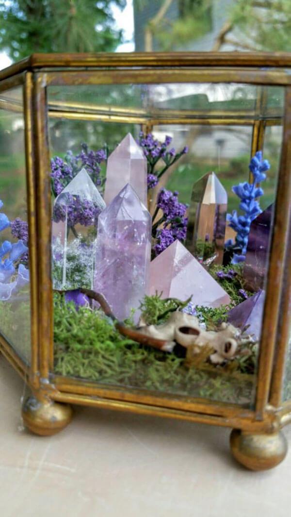 Quartz de Terrarium de jardin de fées