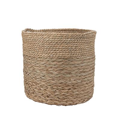 pot en osier pour plantes et fleurs
