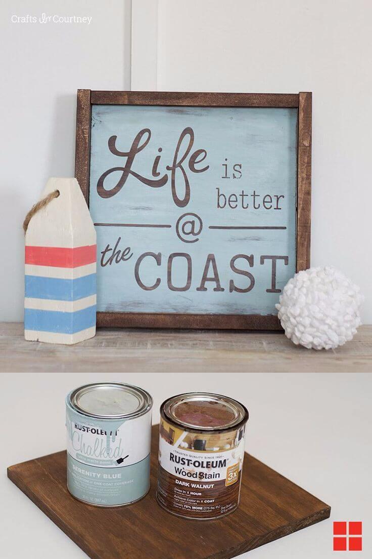 Panneau «La vie est meilleure sur la côte»