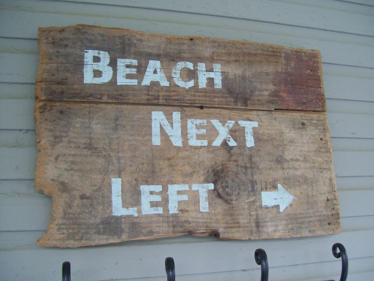 Savez-vous où se trouve la plage?