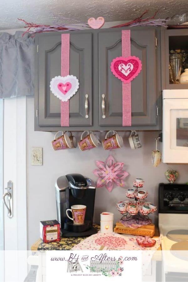 Célébration de la station de café Hearts on Fire Valentine