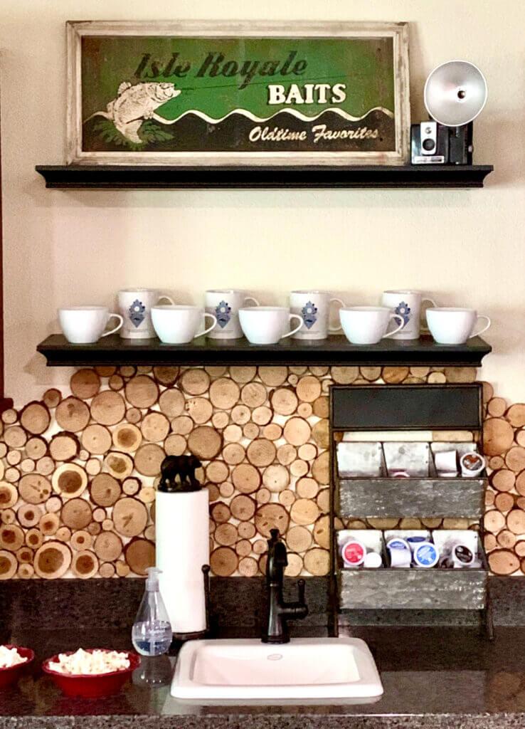 Station de café rustique Lakehouse Cabin