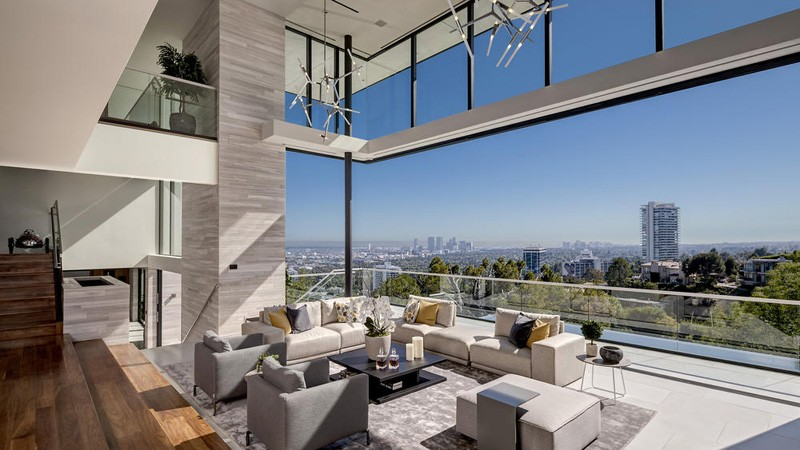 Intérieur de la maison Hollywood Hills