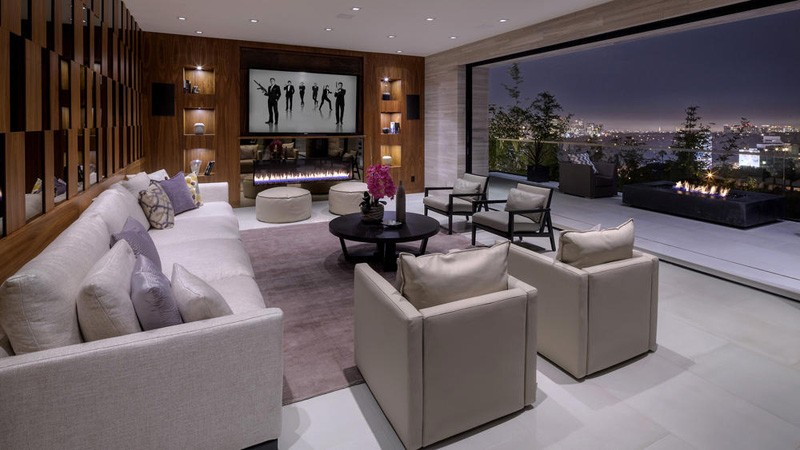 Cheminée Hollywood Hills Home