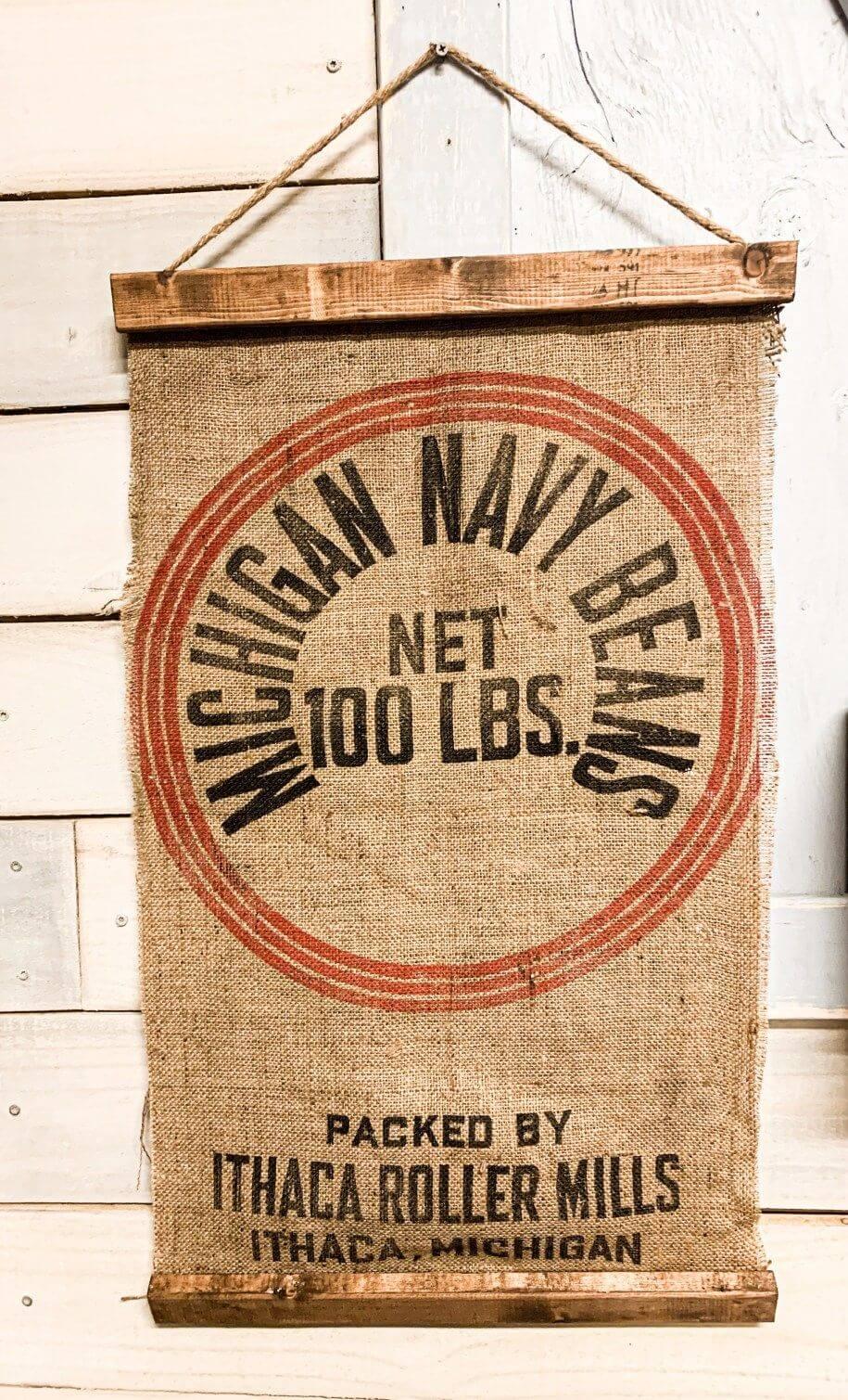 Bannière suspendue en sac de haricots nostalgique tourné