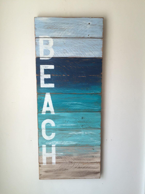 Décoration murale de plage en bois