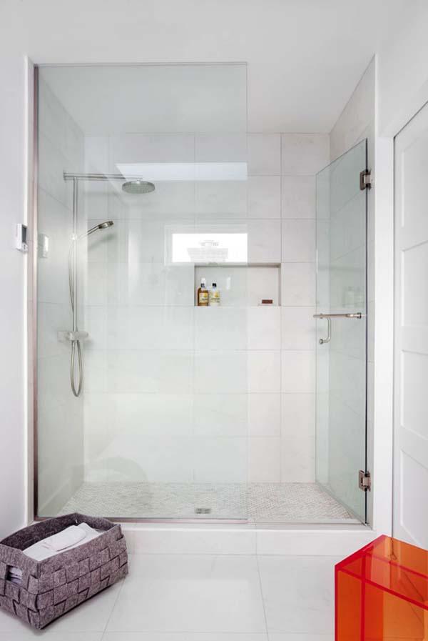 douche vitrée