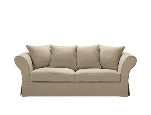 canapé de style rustique