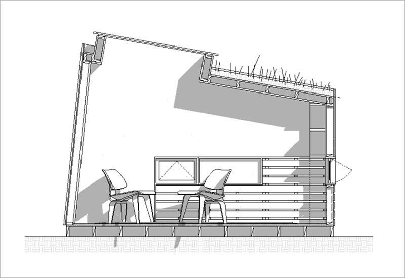 Coupe transversale du Brooklyn Garden Studio