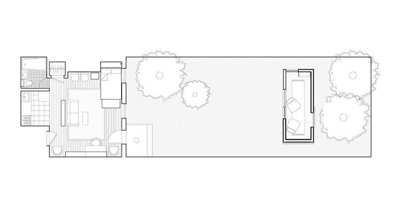 Plan d'étage du Brooklyn Garden Studio