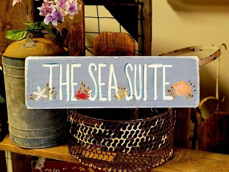 Enseigne de jardin Coastal Critters Sea Suite