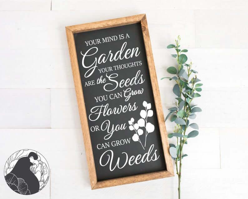 Style de tableau grandir les fleurs signe de jardin