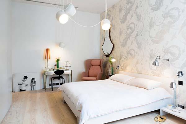 chambre à coucher de papier peint