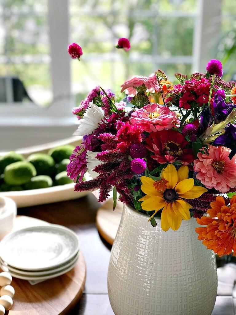 Bouquet d'automne frais et chaleureux