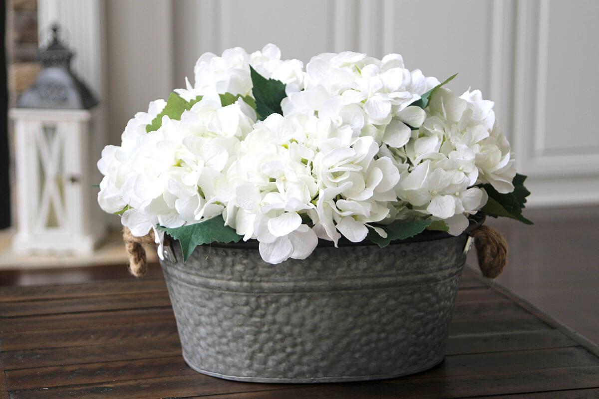 Affichage floral simple et net
