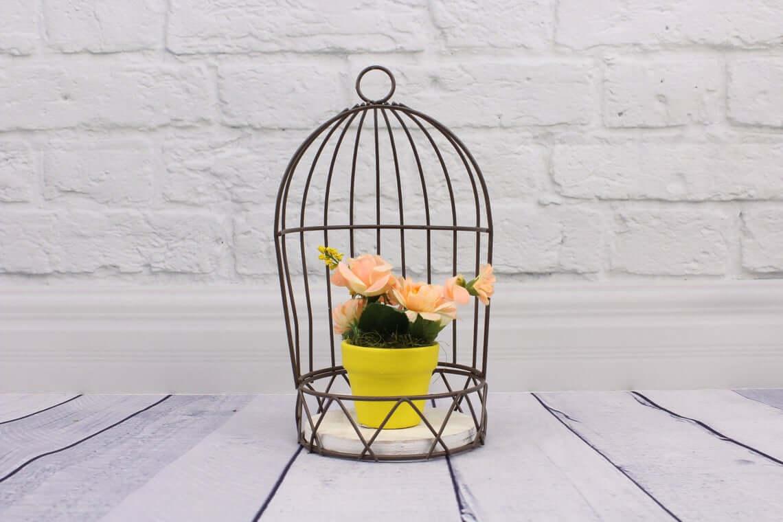 Porte-plante d'extérieur simple cage à oiseaux ouverte