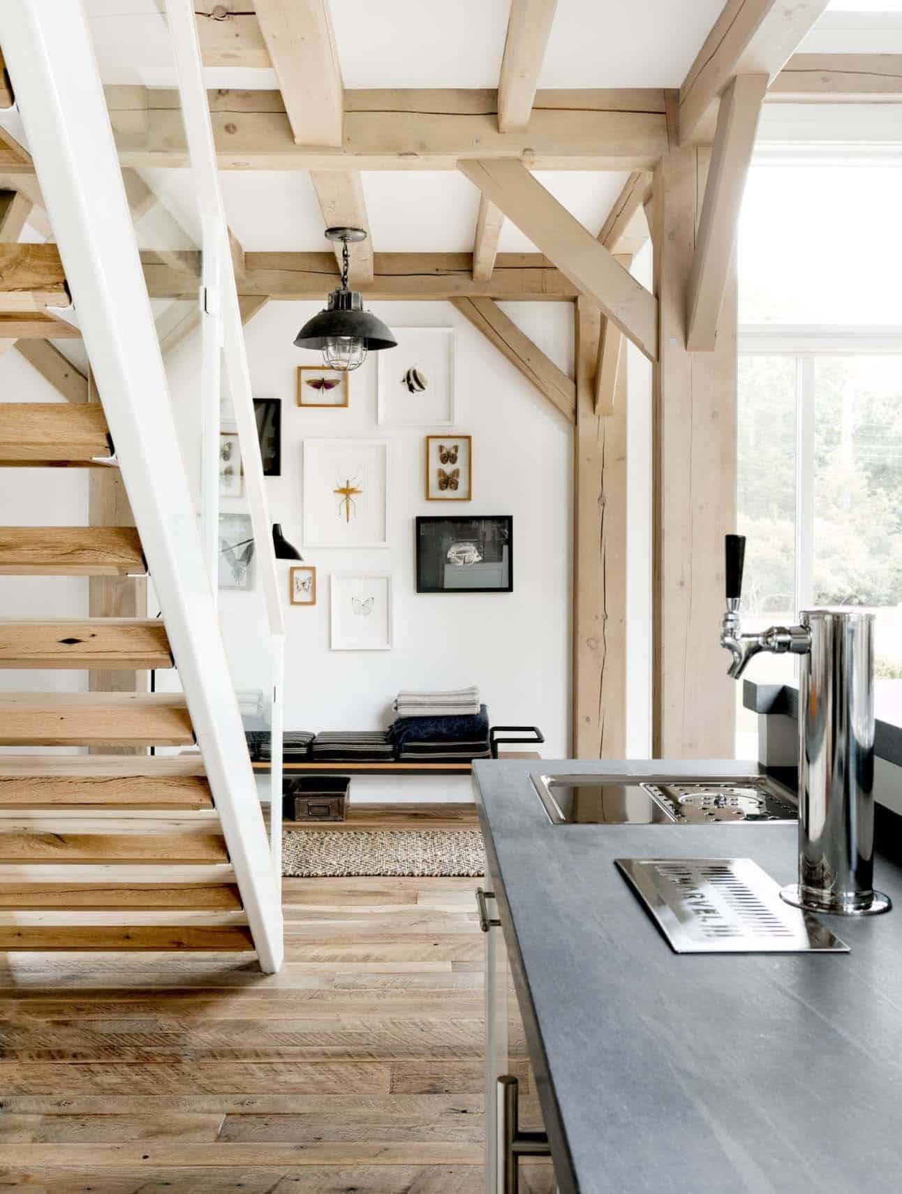 escalier de ferme moderne
