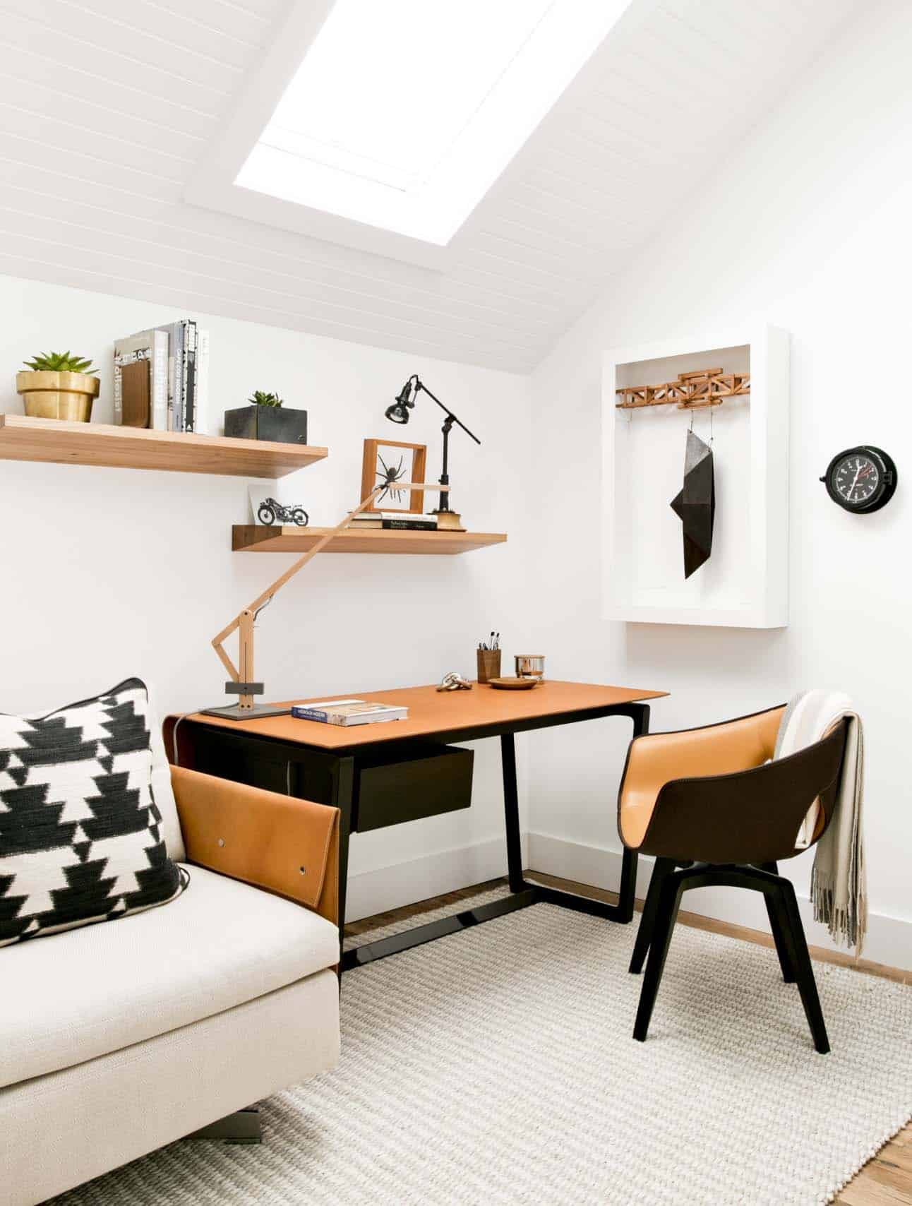 bureau à domicile de ferme moderne