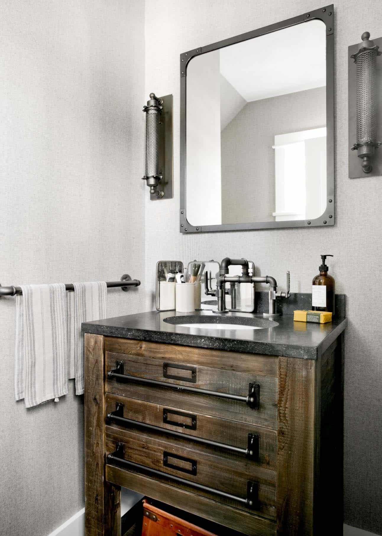 salle de bain de ferme moderne