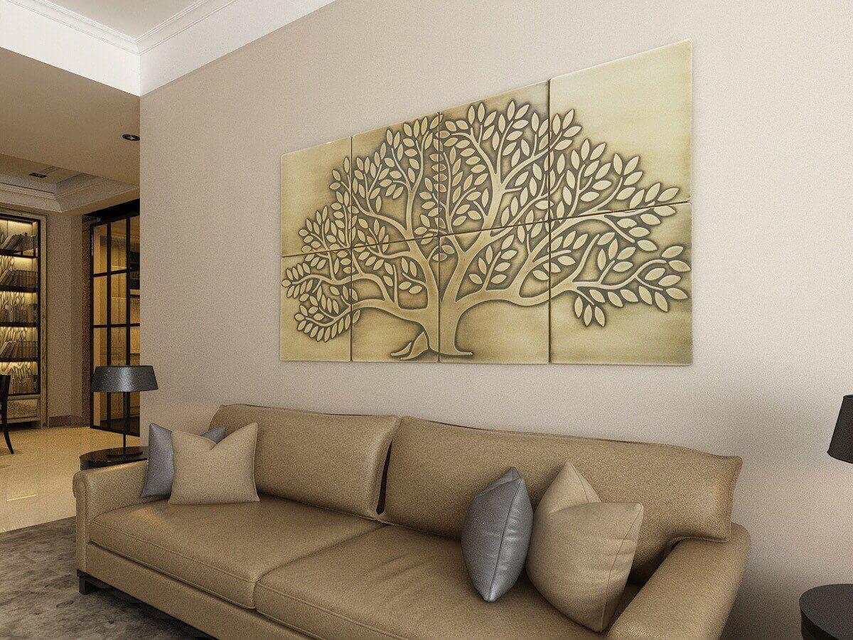 Tenture murale Golden Tree of Life