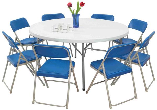 Table ronde moulée
