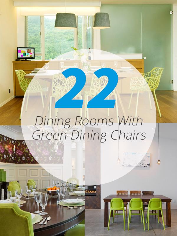 chaises de salle à manger vertes