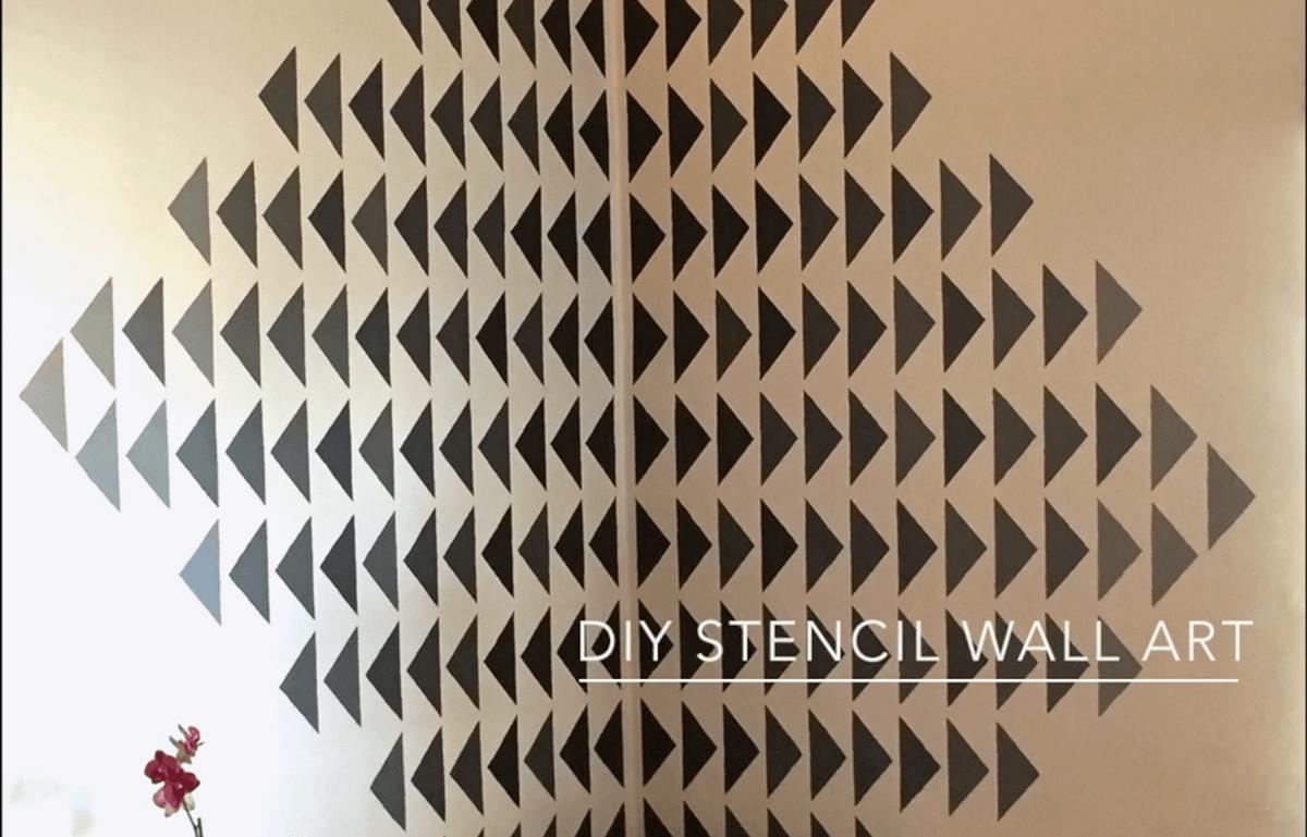 Art mural de salon simple pochoir