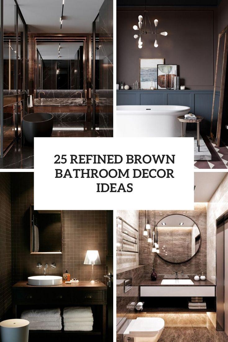 Housse de décoration de salle de bain marron raffinée
