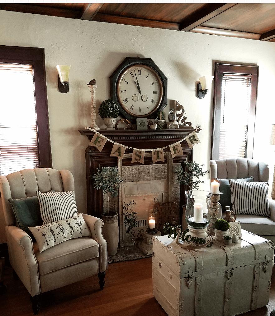 Salon de charme rustique du vieux monde