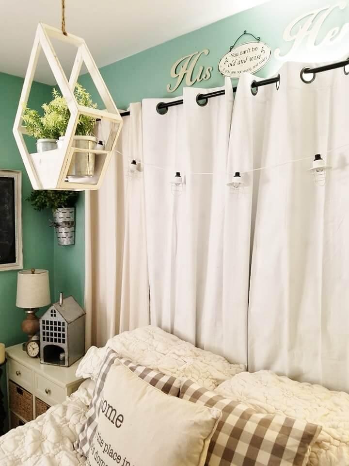 Conception de chambre confortable, confortable et champêtre