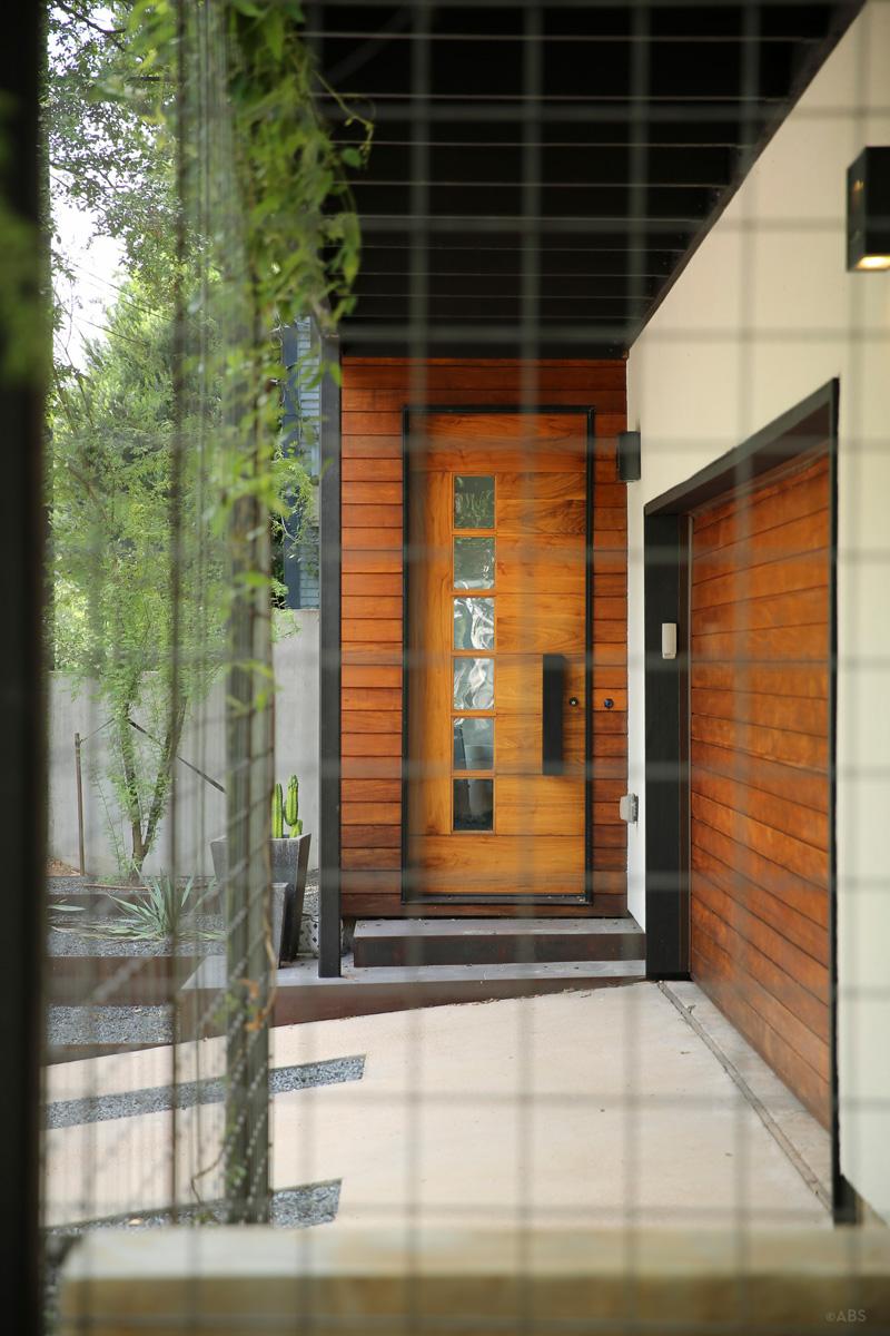 porte de maison contemporaine