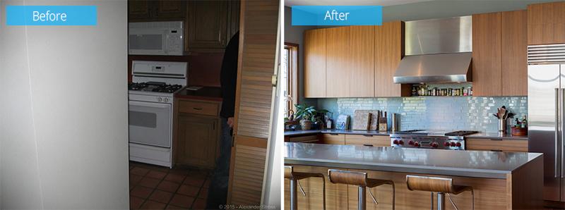 cuisine avant et après