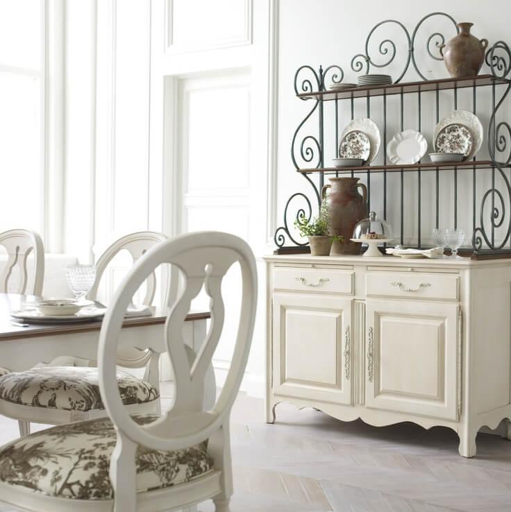 Armoire Ouverte En Fer Antique En Porcelaine