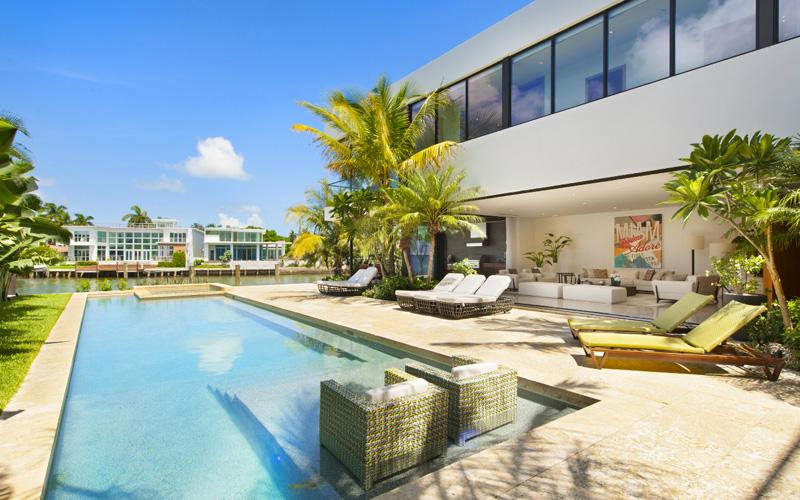 L'architecture de la maison de Miami