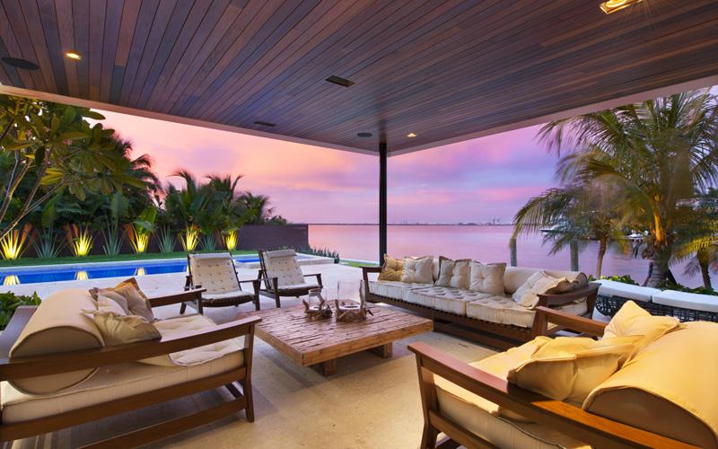Vue sur la plage de Miami