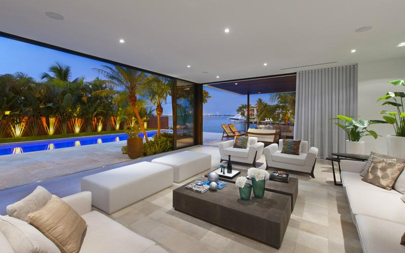 Intérieur de maison de plage de Miami