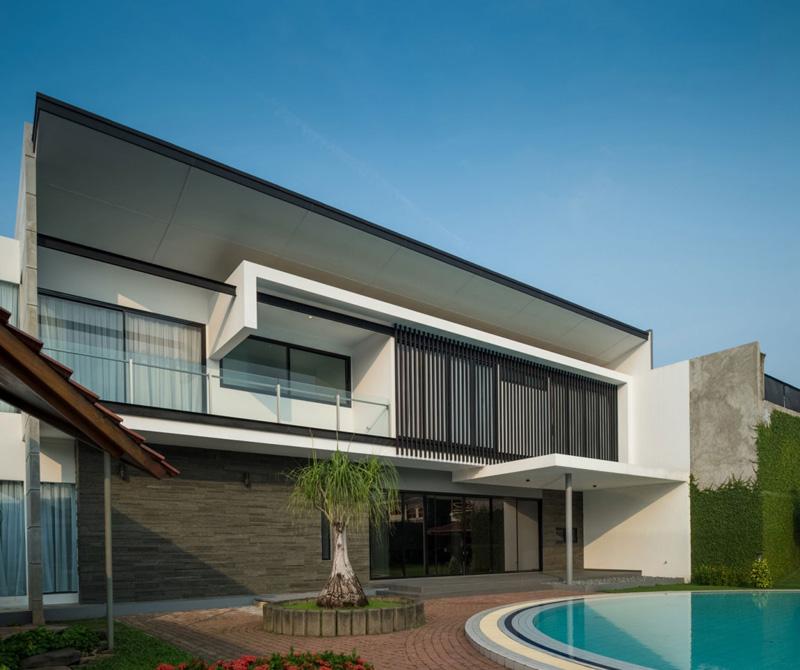 indonésie maison piscine