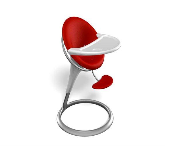 chaise haute sinueuse