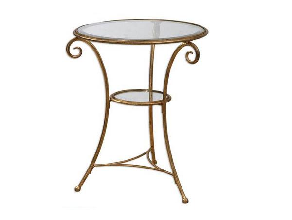 table d'appoint à la feuille d'or